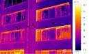 Termovizní měření panelového domu, Praha