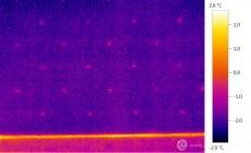 Termogram - hmoždinky tvoří tepelné mosty