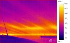 Termogram - únik tepla z bytu do garáže