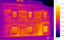 Termogram - úniky tepla zdivem historického domu